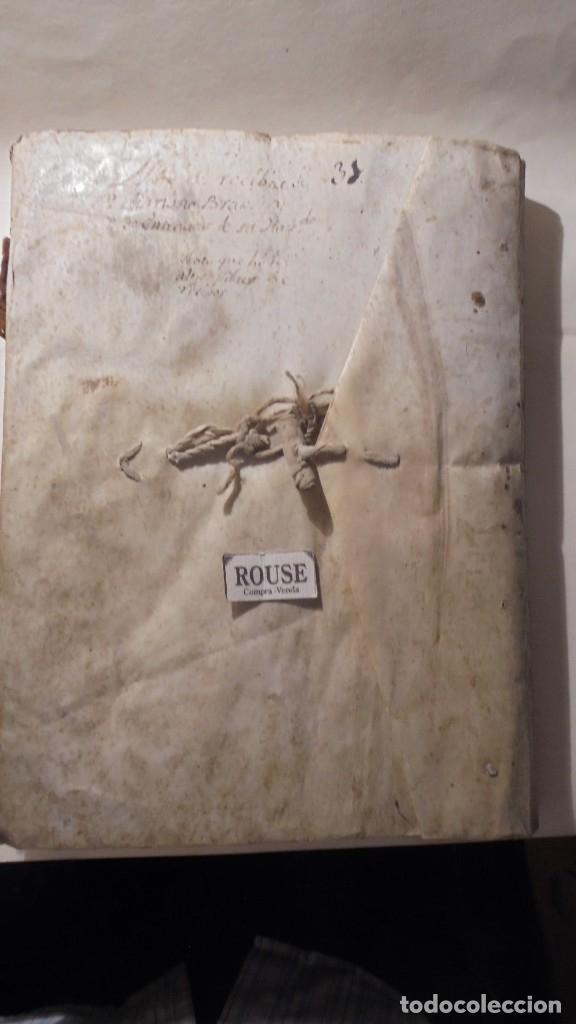 ANTIGUO LIBRO / LIBRETA LLIBRE DE RECIBOS DE MARIANO BRANSI , MARQUES DE SERDAÑOLA BARCELONA 1748 - (Coleccionismo - Documentos - Manuscritos)