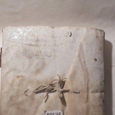 Manuscritos antiguos: ANTIGUO LIBRO / LIBRETA LLIBRE DE RECIBOS DE MARIANO BRANSI , MARQUES DE SERDAÑOLA BARCELONA 1748 -. Lote 172618823