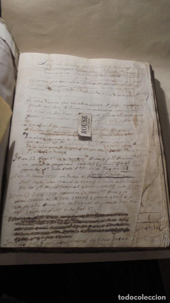 Manuscritos antiguos: ANTIGUO LIBRO / LIBRETA LLIBRE DE RECIBOS DE MARIANO BRANSI , MARQUES DE SERDAÑOLA BARCELONA 1748 - - Foto 2 - 172618823