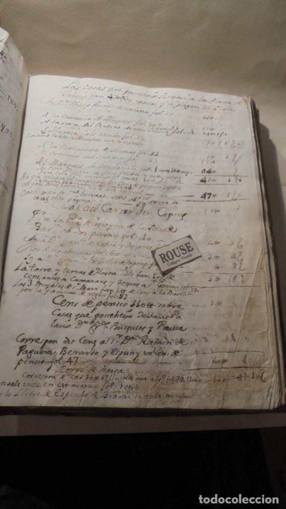 Manuscritos antiguos: ANTIGUO LIBRO / LIBRETA LLIBRE DE RECIBOS DE MARIANO BRANSI , MARQUES DE SERDAÑOLA BARCELONA 1748 - - Foto 3 - 172618823