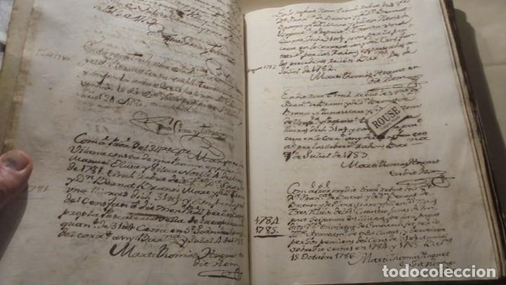 Manuscritos antiguos: ANTIGUO LIBRO / LIBRETA LLIBRE DE RECIBOS DE MARIANO BRANSI , MARQUES DE SERDAÑOLA BARCELONA 1748 - - Foto 4 - 172618823