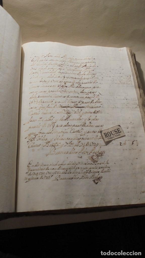 Manuscritos antiguos: ANTIGUO LIBRO / LIBRETA LLIBRE DE RECIBOS DE MARIANO BRANSI , MARQUES DE SERDAÑOLA BARCELONA 1748 - - Foto 5 - 172618823