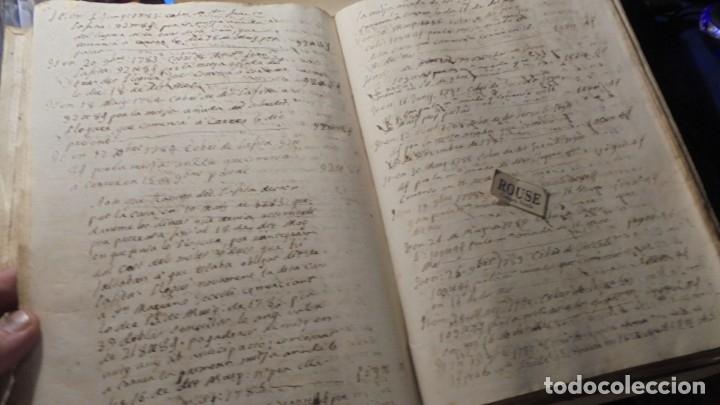 Manuscritos antiguos: ANTIGUO LIBRO / LIBRETA LLIBRE DE RECIBOS DE MARIANO BRANSI , MARQUES DE SERDAÑOLA BARCELONA 1748 - - Foto 7 - 172618823