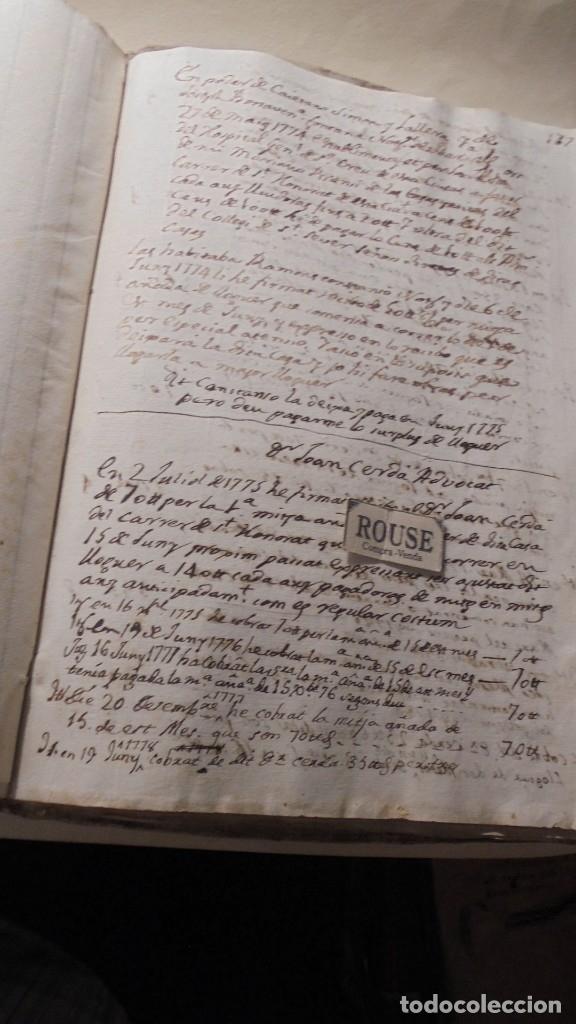Manuscritos antiguos: ANTIGUO LIBRO / LIBRETA LLIBRE DE RECIBOS DE MARIANO BRANSI , MARQUES DE SERDAÑOLA BARCELONA 1748 - - Foto 8 - 172618823