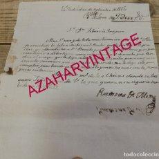 Manuscrits anciens: VALLADOLID,1815, ACUSE RECIBO LETRA DE CAMBIO, E INVITACION A CORRIDA DE TOROS, RARO. Lote 172713993