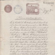 Manuscritos antiguos: 1891 SANTANDER. FISCAL 7º DE 5 PTS SELLO COLEGIO ABOGADOS BURGOS 3º 2 PTS PRACTICO PUERTO. Lote 172780938
