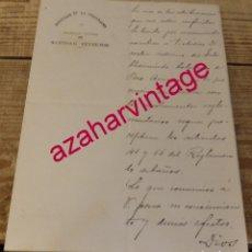 Manuscritos antiguos: SEVILLA, 1910, NOMBRAMIENTO DIRECTOR MEDICO INTERINO,BALNEARIO DE POZO AMARGO, MORON DE LA FRONTERA. Lote 172826680