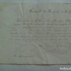 Manuscritos antiguos: CONVENTO DE RELIGIOSAS DE SANTA INES: RECIBO DE PAGO. SEVILLA, 1902. FIRMA LA MADRE ABADESA. Lote 173028949