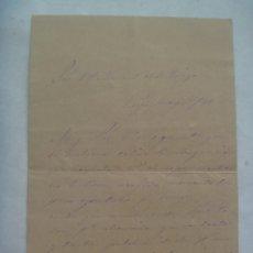 Manuscritos antiguos: CARTA MANUSCRITA DE 1889 , ECIJA ( SEVILLA ) SIGLO XIX. Lote 173036974