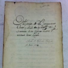 Manuscritos antiguos: ESCRITURA MANUSCRITA DE HERENCIA EN LA CIUDAD DE VALENCIA. AÑO 1792.. Lote 173123240