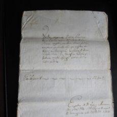 Manuscritos antiguos: ESCRITURA EN CATALÁN DE UNA CASA SITUADA EN LA C/ MAYOR DE TARRAGONA DEL AÑO 1841. Lote 173193755