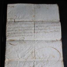 Manuscritos antiguos: ESCRITURA EN CATALÁN DE LA VENTA DE UNAS TIERRAS EN EL TÉRMINO DE VILABELLA DEL AÑO 1792. Lote 173193849