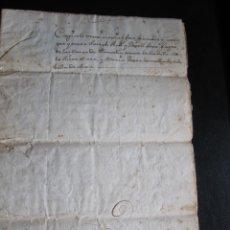 Manuscritos antiguos: ESCRITURA EN CATALÁN DE LA VENTA DE UNA CASA EN LA RIERA DE GAIÀ EN EL AÑO 1786. Lote 173193994