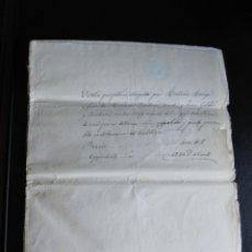 Manuscritos antiguos: ESCRITURA DE LA VENTA DE UNA PROPIEDAD DE TORREDEMBARRA 1857. Lote 173194253