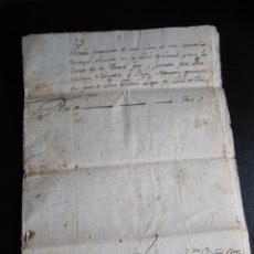 Manuscritos antiguos: ESCRITURA EN CATALÁN DE UNA PROPIEDAD DE CREIXELL REALIZADA EN TORREDEMBARRA 1768. Lote 173194615