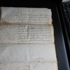 Manuscritos antiguos: ESCRITURA EN CATALÁN DE UNA PROPIEDAD DE CREIXELL REALIZADA EN VALLS AÑO 1763. Lote 173194720