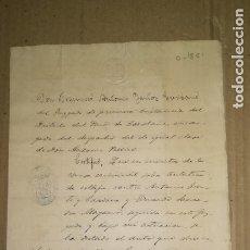 Manuscritos antiguos: ANTIGUO MANUSCRITO, REY ALFONSO XII. BARCELONA, AÑO 1881. Lote 173285828
