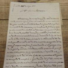 Manuscritos antiguos: GRANADA, 1877, CARTA MANUSCRITA FIRMADA POR EL CONDE DE VILLAMENA. Lote 173382108