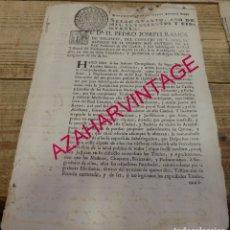 Manuscritos antiguos: SEVILLA, 1750, SOLICITUD RELACION DE MEDICOS,BOTICARIOS,CIRUJANOS, SANGRADORES, ETC..2 PAGINAS. Lote 173385507
