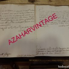 Manuscritos antiguos: 1792, DOS DOCUMENTOS FIRMADOS POR EL DUQUE DE ALBA, NOMBRAMIENTOS DE JUSTICIA. Lote 173388223