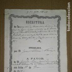Manuscritos antiguos: ANTIGUA ESCRITURA MANUSCRITA, BADAJOZ, AÑO 1878. Lote 173489840