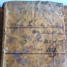Manuscritos antiguos: LIBRO MANUSCRITOS S.XVIII. Lote 173682333