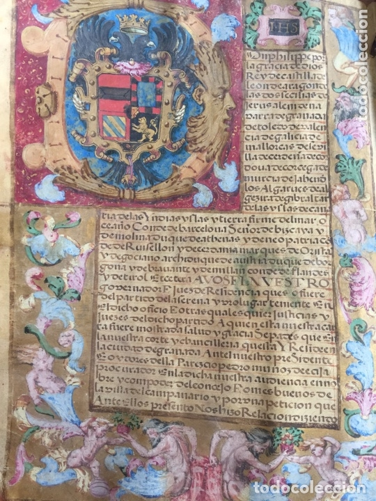 DOCUMENTO MANUSCRITO DE PRIVILEGIO OTORGADO POR FELIPE II Y RATIFICADO POR FELIPE IV. S.XVI (Coleccionismo - Documentos - Manuscritos)