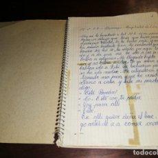 Manuscritos antiguos: LIBRETA DIARIO MANUSCRITO / HOSPITALET DE LLOBREGAT 1977 Y 1978 Y REMATADA EN 1988. VER FOTOS. Lote 173916318