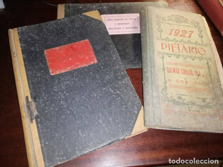 4 DIARIOS MANUSCRITOS DE EMILIO PIBERNAT VIADER ALCALDE EN EPOCA REPUBLICA DE SALT GERONA GIRONA (Coleccionismo - Documentos - Manuscritos)