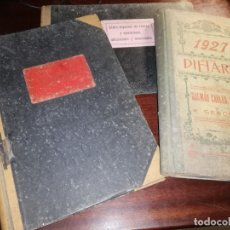 Manuscritos antiguos: 4 DIARIOS MANUSCRITOS DE EMILIO PIBERNAT VIADER ALCALDE EN EPOCA REPUBLICA DE SALT GERONA GIRONA. Lote 173917134