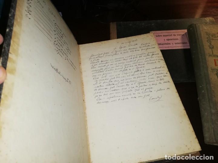 Manuscritos antiguos: 4 Diarios manuscritos de Emilio pibernat viader Alcalde en epoca republica de Salt Gerona Girona - Foto 2 - 173917134