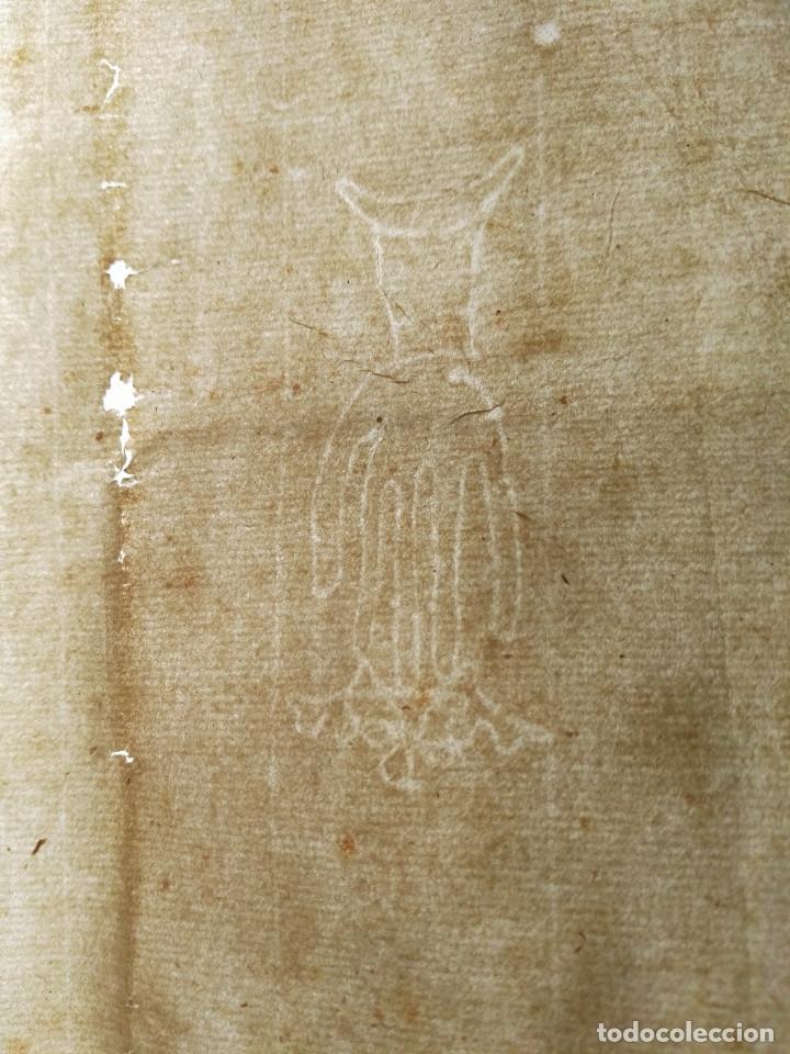 HOJAS MANUSCRITAS MEDIEVALES CON FILIGRANA (Coleccionismo - Documentos - Manuscritos)