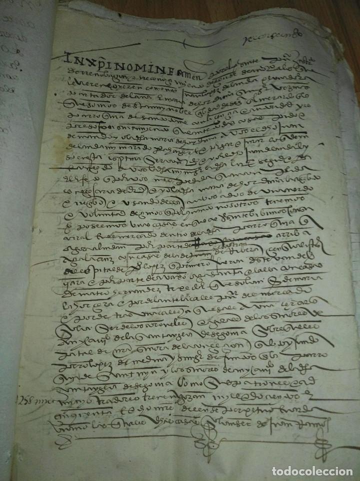 Manuscritos antiguos: Hojas manuscritas medievales con filigrana - Foto 2 - 173982648