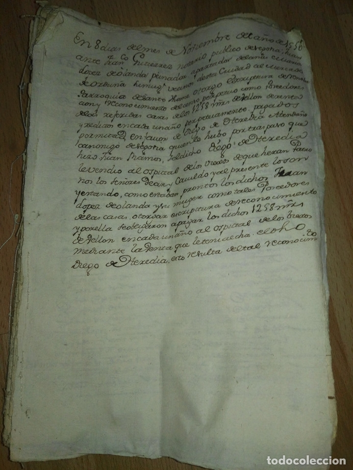 Manuscritos antiguos: Hojas manuscritas medievales con filigrana - Foto 3 - 173982648