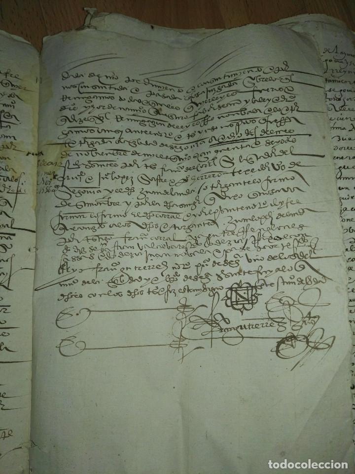 Manuscritos antiguos: Hojas manuscritas medievales con filigrana - Foto 4 - 173982648
