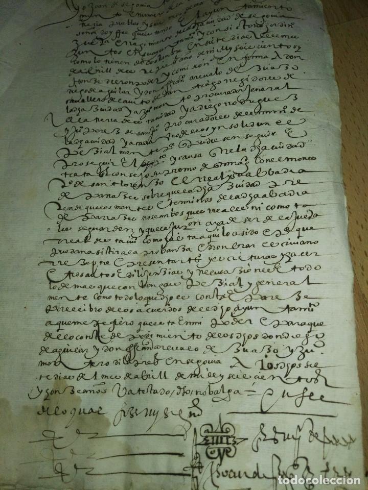 Manuscritos antiguos: Hojas manuscritas medievales con filigrana - Foto 5 - 173982648