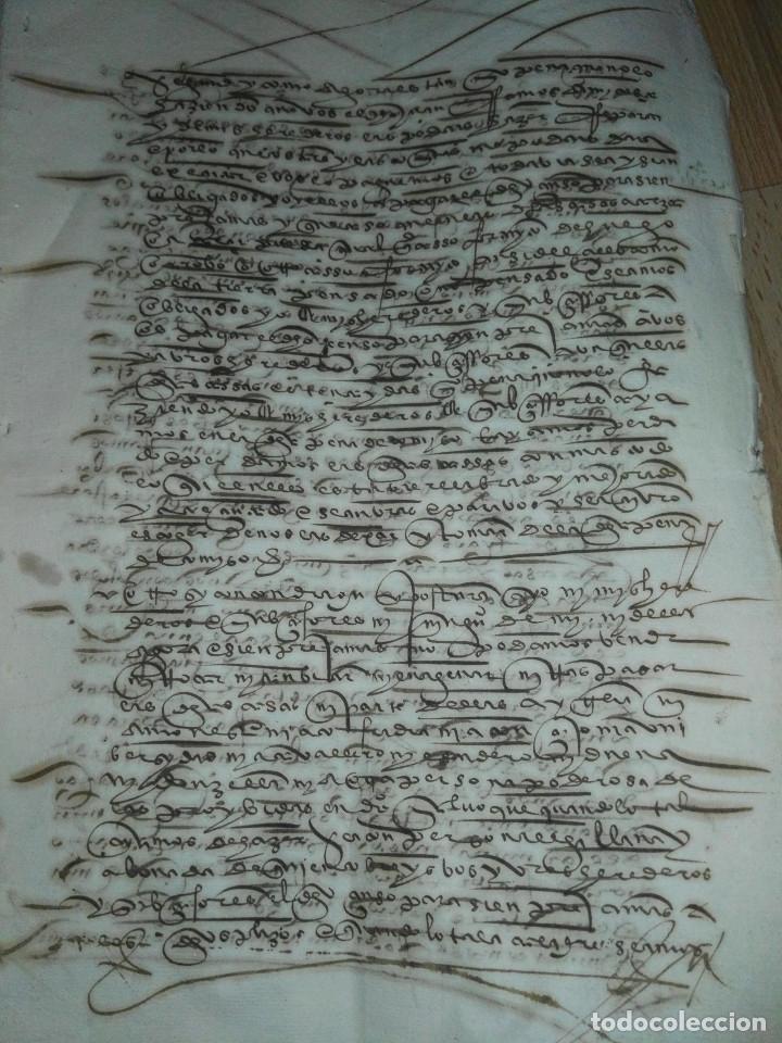 Manuscritos antiguos: Hojas manuscritas medievales con filigrana - Foto 7 - 173982648