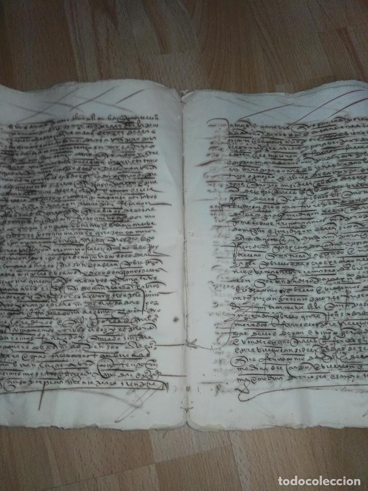 Manuscritos antiguos: Hojas manuscritas medievales con filigrana - Foto 8 - 173982648
