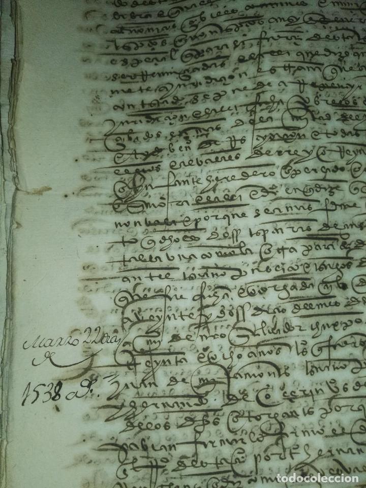 Manuscritos antiguos: Hojas manuscritas medievales con filigrana - Foto 9 - 173982648