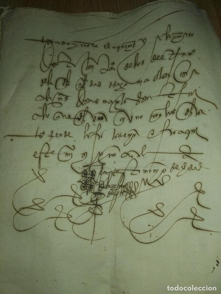 Manuscritos antiguos: Hojas manuscritas medievales con filigrana - Foto 10 - 173982648