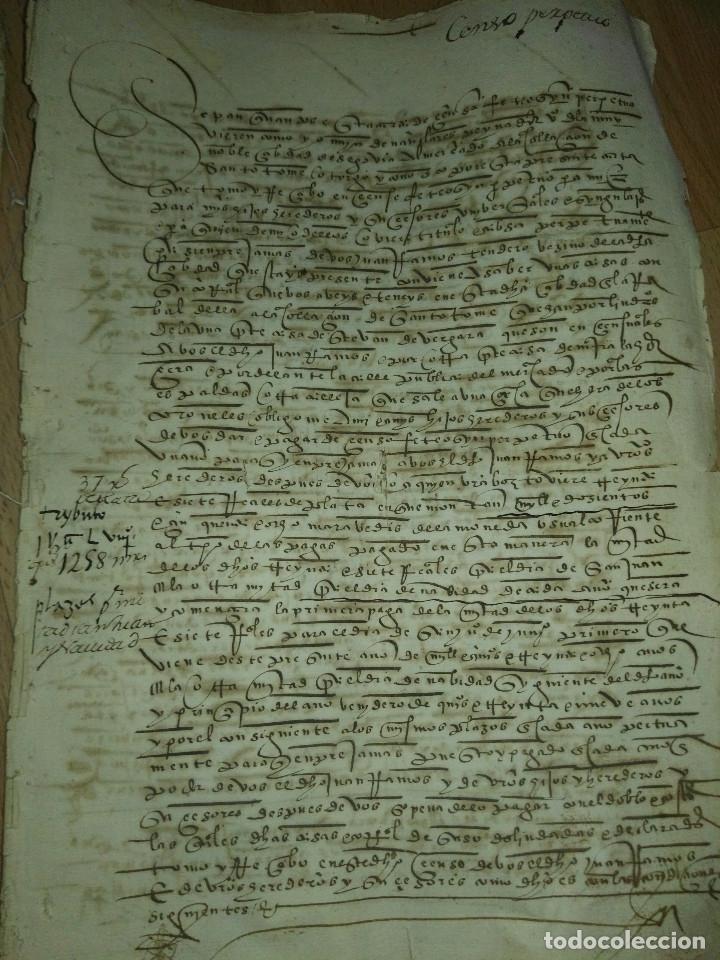 Manuscritos antiguos: Hojas manuscritas medievales con filigrana - Foto 11 - 173982648