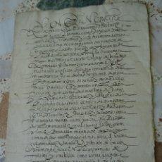 Manuscritos antiguos: FAMILA LA PALMA, JESUITAS TOLEDO, 1596, RENUNCIA DE BIENES Y DONACIÓN, 16 PAGS. Lote 174006853