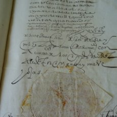 Manuscritos antiguos: BURGOS, EJECUTORIA PLEITO CASA DE AYALA CON EL MONASTERIO DE LA VICTORIA, 1594, 190 PAGS APROX. Lote 174008160