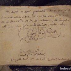 Manuscritos antiguos: ANTIGUA LIBRETA MANUSCRITA - CURSILLO GRAFICO DESARROLLO FECUNDACION - PONS RABELLO MALLORCA. Lote 174048382