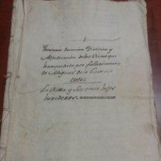 Manuscritos antiguos: DOCUMENTO ANTIGUO, MIGUEL DE LA CUESTA, ALCALDE DE ALMODÓVAR DEL PINAR 1799, TESTAMENTO.. Lote 174323522