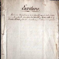 Manuscritos antiguos: MANUSCRITO 1868 / SOCIEDAD DE CREDITO Y FOMENTO DE BARCELONA / SUSCRIPTORES / MUY INTERESANTE. Lote 174458755