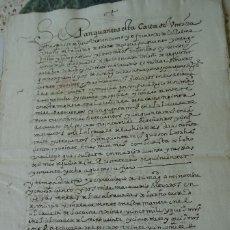 Manuscritos antiguos: VENTA DE JURO SOBRE LAS ALCABALAS DE MURCIA POR FERNANDO DE LA PALMA, VECINO TOLEDO, 1598, 11 PAGS. Lote 174485119