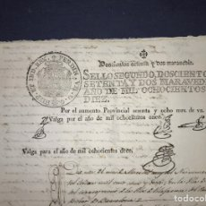 Manuscritos antiguos: FISCAL. G. INDEPENDENCIA. SELLO SEGUNDO 1812, AUMENTO, HAB. 1811, HAB. 1812. SITGES.. Lote 174593114