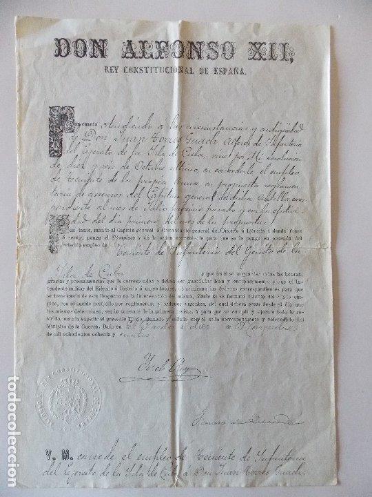 DOCUMENTO ALFONSO XIII (Coleccionismo - Documentos - Manuscritos)