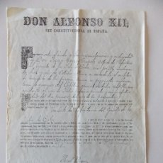 Manuscritos antiguos: DOCUMENTO ALFONSO XIII. Lote 175044639